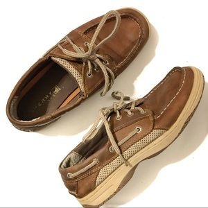 SPERRY Boy's Billfish Boat Shoes Brown 6M